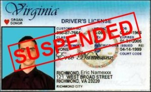 Fairfax DUI administrative license suspension
